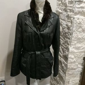 Vintage style Danier Black leather jacket